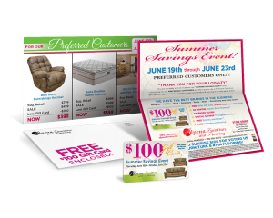folded mailer with gift card